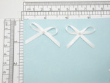 "Ribbon Bows with Bead 1 1/4"" x 3/4""  25 Pack (32mm x 19mm) white"