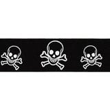 """Grosgrain Ribbon 7/8"""" Skull & Cross Bones 25 Yard Roll"""