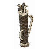 Golf Bag Beige and Clubs