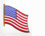 "Stars & Stripes Flag 7 1/2"" x 9"" Iron on Patch Applique"