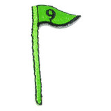 Golf 9th Hole Flag