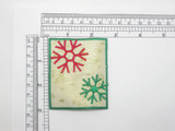 Snowflake Patch Iron On Embroidered  Applique