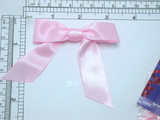 "Ribbon Bow 4 1/2"" x 3""  Pearl Pink  - 6 Pack (114mm x 76mm)"