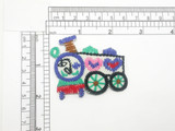 Train Patch with Hearts Iron On Embroidered Applique