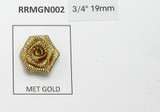 "Metallic Ribbon Rose 3/4"" (19mm) No Leaf  Rose Gold 25 Pack"