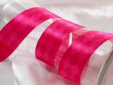 "Satin Ribbon 1 1/2"" Pink Harlequin 5 yards"