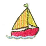 Sailboat Yellow Sparkle