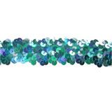 """Sequin Stretch Trim 1 1/8"""" Turquoise"""