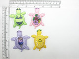 """Turtle Beach Fun Iron On Embroidered Applique colors  Fully Embroidered   Measures 2 1/2"""" high x 2"""" wide approximately"""