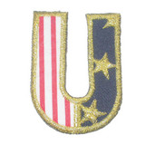 Stars and Stripes Letter U