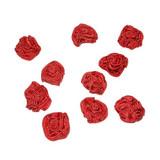 Rosette Applique Rouge 10 Pack