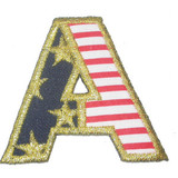 Stars and Stripes Letter A