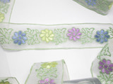 "Embroidered Sheer 1 7/8"" (48mm) Floral Pastel 6 Yard Bolt"