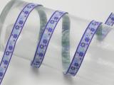 """Jacquard Ribbon 1/2"""" Purple Floral 10 Yards"""