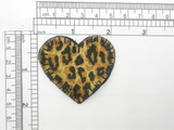 Animal Print Heart Iron On Patch Applique