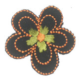 Black Embroidery Flower