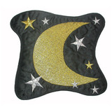 "Moon Stars Patch Black 6 1/2"""