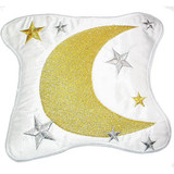 """Moon Stars Patch White 6 1/2"""""""