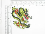 """Dragon Patch Iron On Embroidered Applique 4 1/8"""" across x 3 1/4"""""""