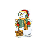 Snowman with Shovel  Iron On Patch Applique Embroidered