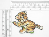"""Tiger Cub Embroidered Iron On Patch Applique Fully Embroidered   Measures 2 1/2"""" high x 3"""" wide approximately"""