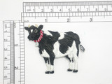 "Cow Iron On Patch Embroidered Applique 2 1/8"" x 2 3/8"""