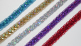 """Sequin Braid 1/2"""" (12.7mm) Colors 5 Yards"""