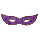 Sparkle Mardi Gras Mask Purple