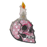 Skull with Candle Pink