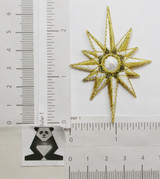 Celestial Nativity Star Embroidered Iron On Patch Applique