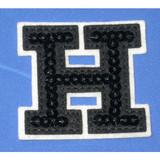Black Sequin Letter H