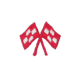 Red Crossed Racing Flags