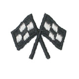 Black Crossed Racing Flags