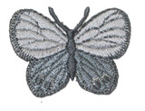 "Butterfly 1 1/2"" Gray Silver"