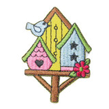 Three Colorful Birdhouses