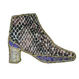 Faux Snakeskin Boot