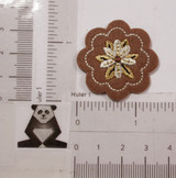 Brown Felt Flower