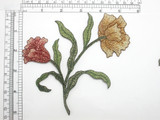 """Carnation Cottage Wildflowers Iron On Embroidered Applique 5 1/2"""" x  6"""""""