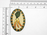 "Country Carrot Patch Iron On Patch Applique - embroidered on  tan twill Backing Measures 2 5/8"" high x 1 3/4"" wide"