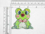 """Sequin Frog patch Iron On Embroidered Applique 2 1/4"""" x 2 1/2"""""""
