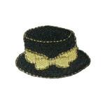 Black Hat Gold Bow