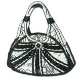 Black and White Sequin Handbag