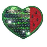 Sequin Melon Heart