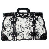 Black and White Sequin Handbag.