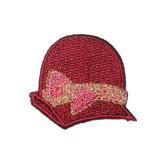 Wine Hat Pink Bow