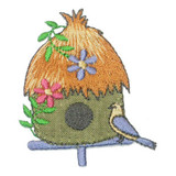 Thatched Birdhouse