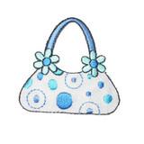 Blue and White Handbag