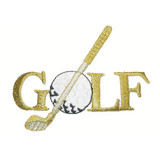 Golf Word with Club and Ball