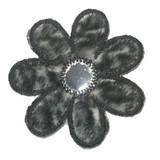 Black and White Furry Mirror Daisy