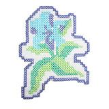 Blue Cross Stitch Flower